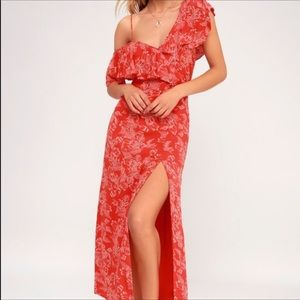 Amuse Society red floral dress